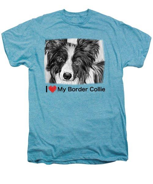 Border Collie Stare Men's Premium T-Shirt