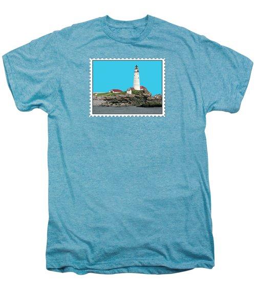 Boston Harbor Lighthouse Men's Premium T-Shirt