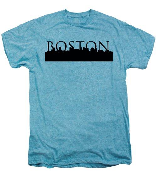 Boston Skyline Outline With Logo Men's Premium T-Shirt by Joann Vitali
