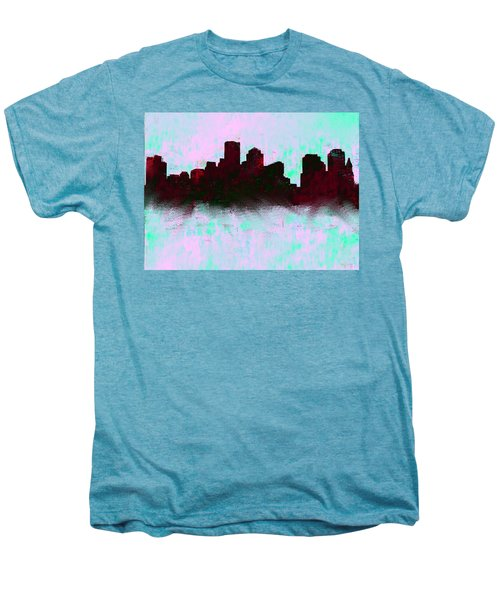 Boston Skyline Sky Blue  Men's Premium T-Shirt