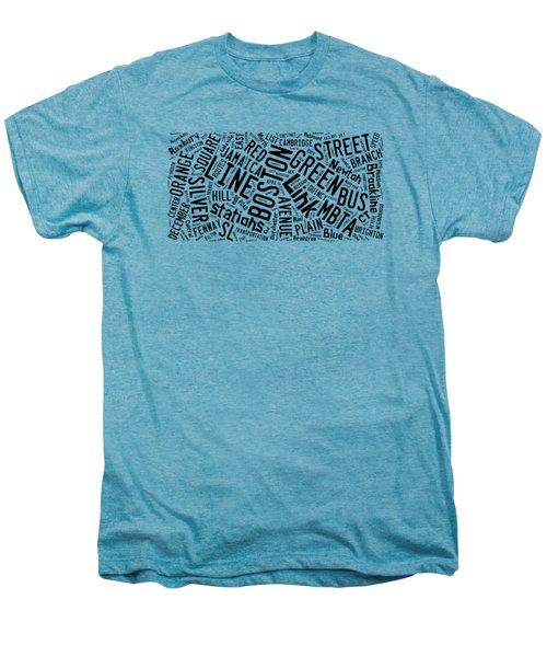 Boston Subway Or T Stops Word Cloud Men's Premium T-Shirt