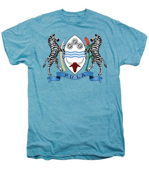 Botswana Coat Of Arms Men's Premium T-Shirt by Movie Poster Prints
