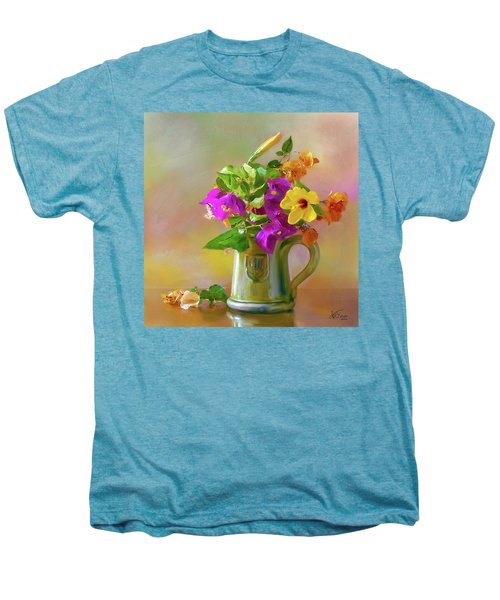 Bougainvilleas In A Green Jar. Men's Premium T-Shirt