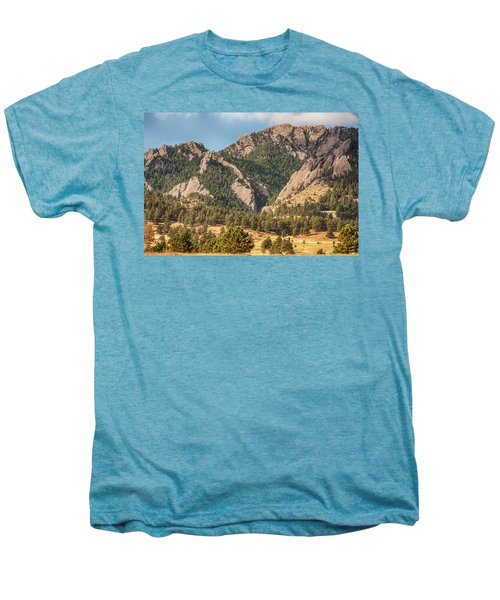 Men's Premium T-Shirt featuring the photograph Boulder Colorado Rocky Mountain Foothills by James BO Insogna