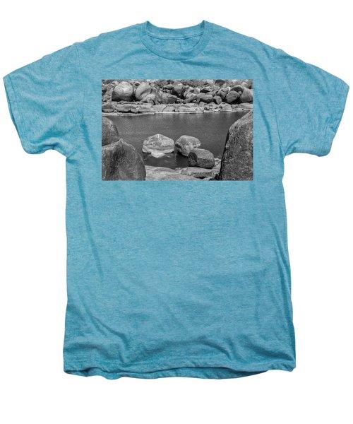 Men's Premium T-Shirt featuring the photograph Boulders Of Tungabhadra, Hampi, 2017 by Hitendra SINKAR