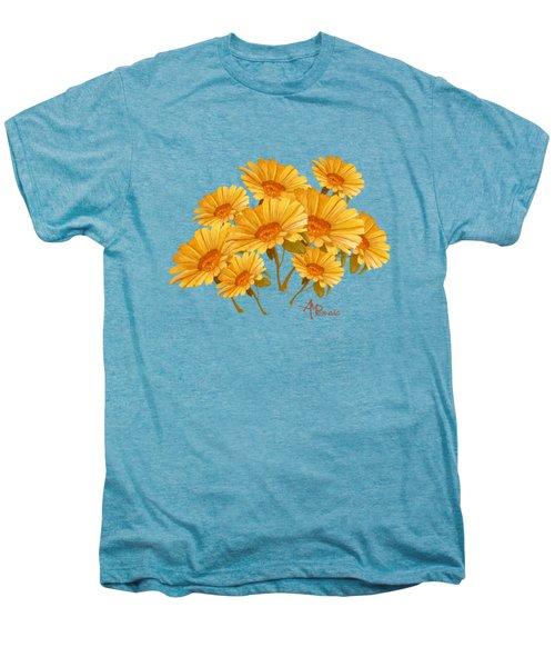 Bouquet Of Daisies Men's Premium T-Shirt by Angeles M Pomata