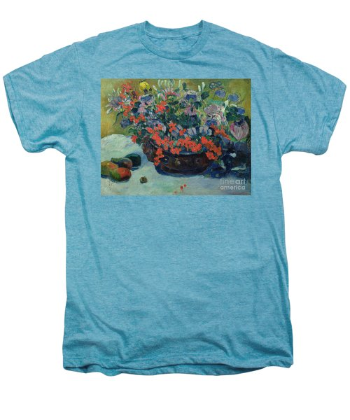 Bouquet Of Flowers Men's Premium T-Shirt by Paul Gauguin