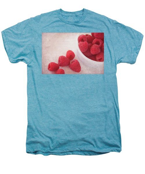 Bowl Of Red Raspberries Men's Premium T-Shirt