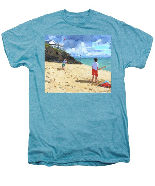 Bowling And Batting, Abersoch Men's Premium T-Shirt