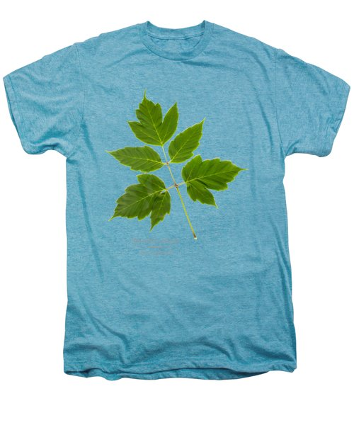 Men's Premium T-Shirt featuring the mixed media Box Elder Maple by Christina Rollo