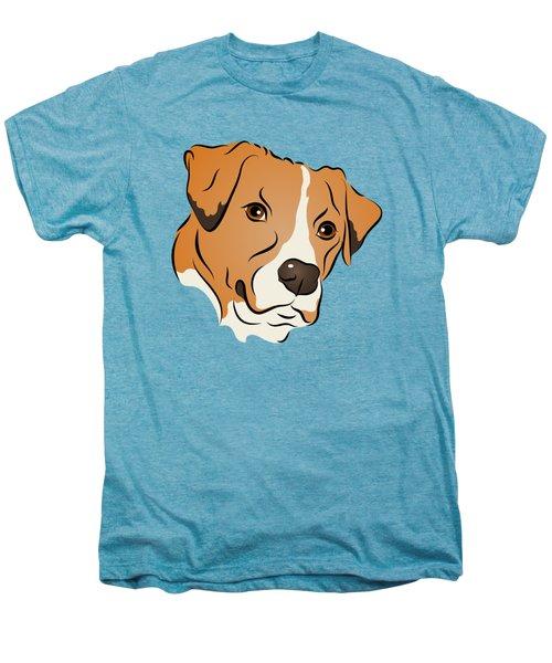 Boxer Mix Dog Graphic Portrait Men's Premium T-Shirt