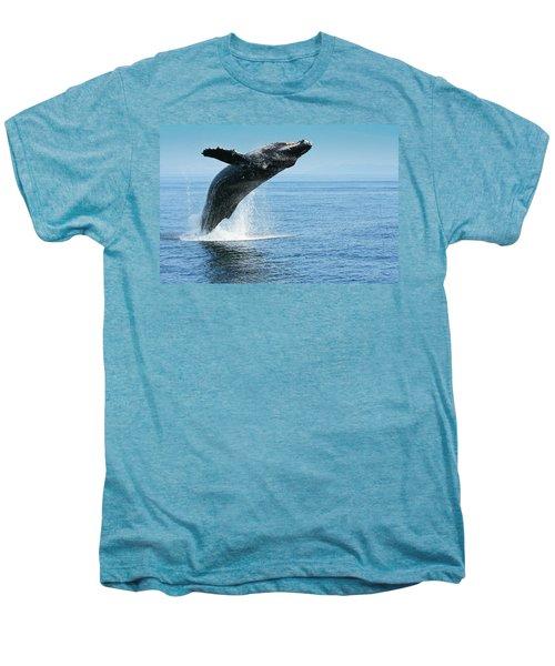 Breaching Humpback Whale Men's Premium T-Shirt