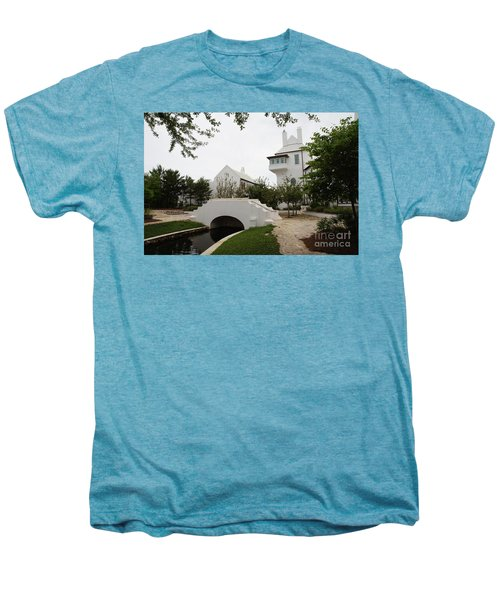 Bridge In Alys Beach Men's Premium T-Shirt by Megan Cohen