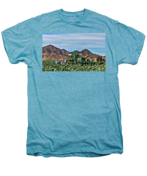 Broccoli Harvest Men's Premium T-Shirt by Robert Bales