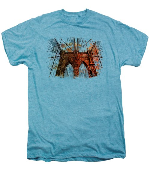 Brooklyn Bridge Art 1 Men's Premium T-Shirt by Di Designs