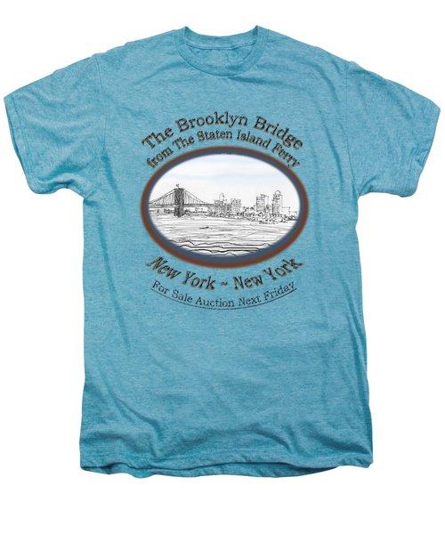 Brooklyn Bridge Men's Premium T-Shirt by James Lewis Hamilton