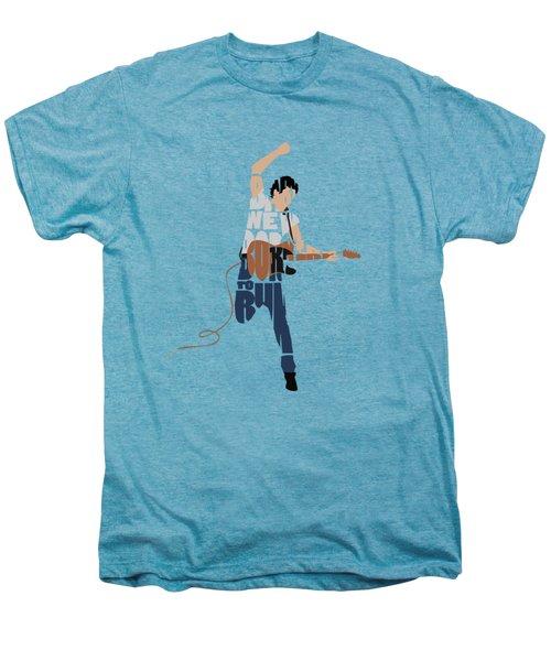 Bruce Springsteen Typography Art Men's Premium T-Shirt