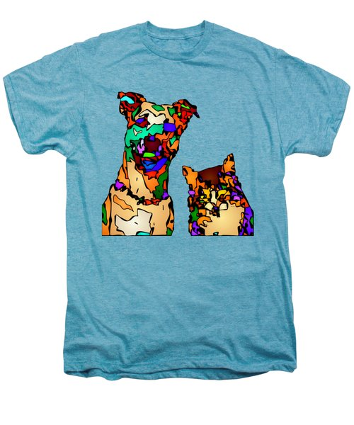Buddies For Life. Pet Series Men's Premium T-Shirt