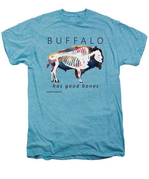 Buffalo Has Good Bones Men's Premium T-Shirt by Marybeth Cunningham