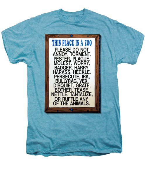 Zoo Sign - Bullyrag? Men's Premium T-Shirt