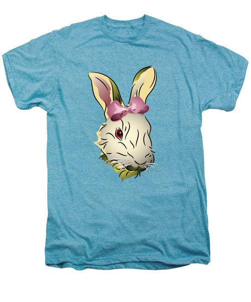 Bunny Rabbit With A Pink Bow Men's Premium T-Shirt