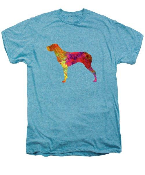 Burgos Pointer In Watercolor Men's Premium T-Shirt by Pablo Romero
