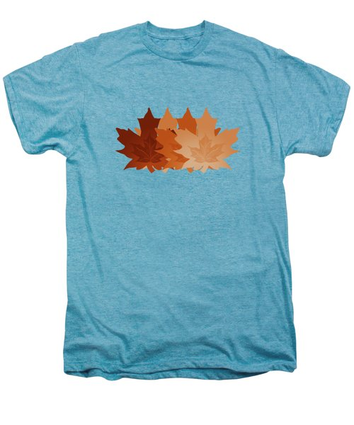 Burnt Sienna Autumn Leaves Men's Premium T-Shirt by Methune Hively