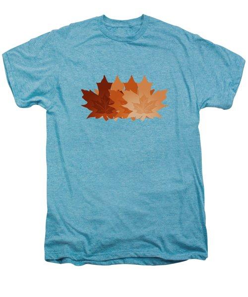 Burnt Sienna Autumn Leaves Men's Premium T-Shirt