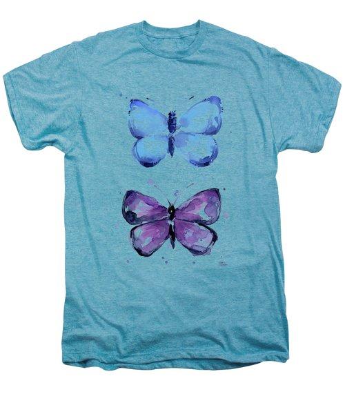 Butterflies Blue And Purple  Men's Premium T-Shirt