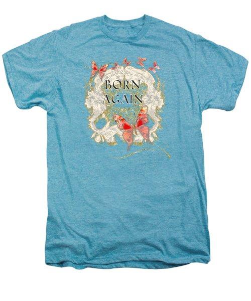 Butterfly Butterflies Swirling Born Again Christian Symbol Men's Premium T-Shirt