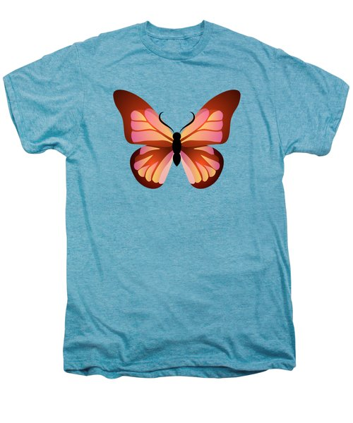 Butterfly Graphic Pink And Orange Men's Premium T-Shirt