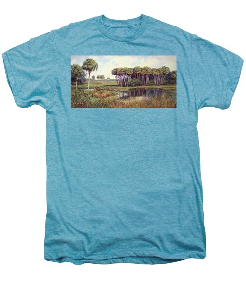 Cabbage Palm Hammock Men's Premium T-Shirt by Laurie Hein