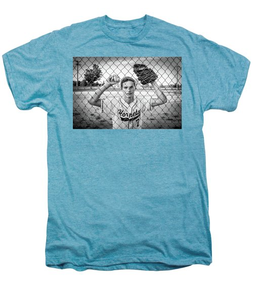 Men's Premium T-Shirt featuring the photograph Caged Competitor by Bill Pevlor
