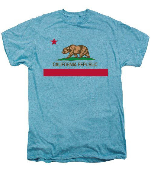 California Republic State Flag Authentic Version Men's Premium T-Shirt by Bruce Stanfield