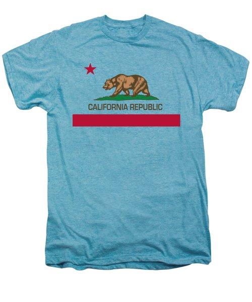 California Republic State Flag Authentic Version Men's Premium T-Shirt