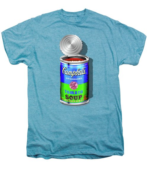 Campbell's Soup Revisited - Blue And Green Men's Premium T-Shirt by Serge Averbukh