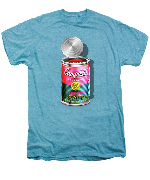 Campbell's Soup Revisited - Pink And Green Men's Premium T-Shirt by Serge Averbukh