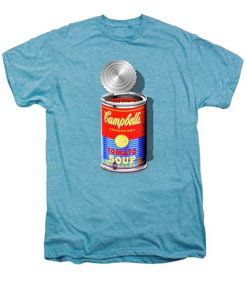 Campbell's Soup Revisited - Red And Blue   Men's Premium T-Shirt by Serge Averbukh