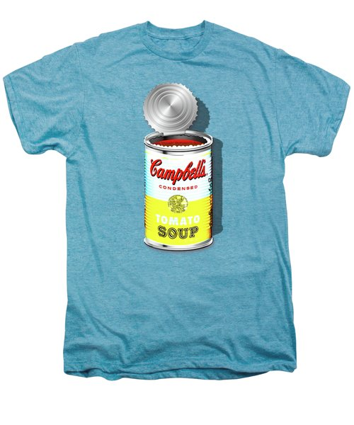 Campbell's Soup Revisited - White And Yellow Men's Premium T-Shirt by Serge Averbukh