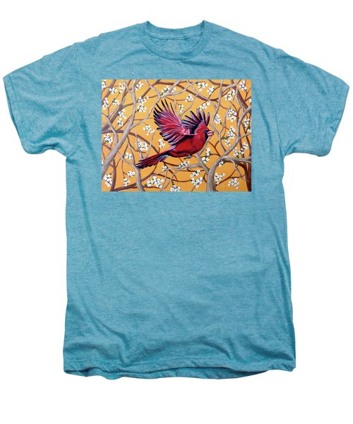 Cardinal In Flight Men's Premium T-Shirt