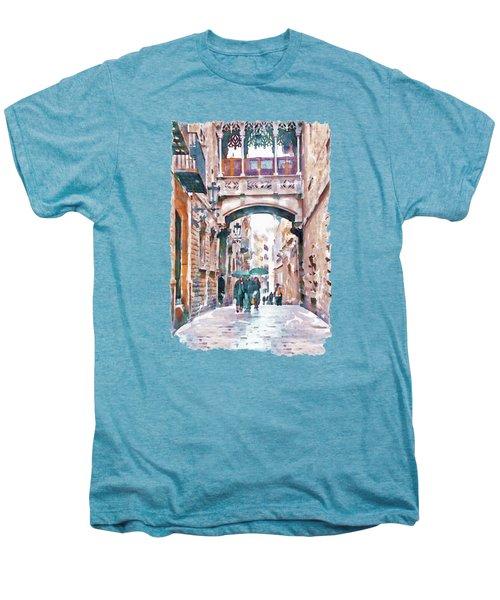 Carrer Del Bisbe - Barcelona Men's Premium T-Shirt by Marian Voicu
