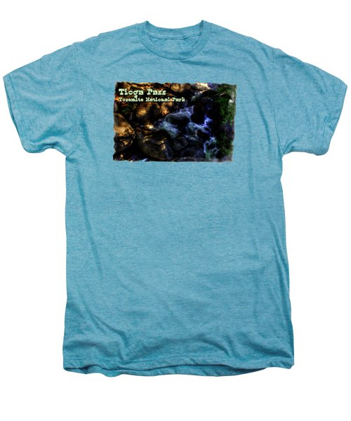 Cascade Along The Tioga Pass Yosemite Men's Premium T-Shirt by Roger Passman