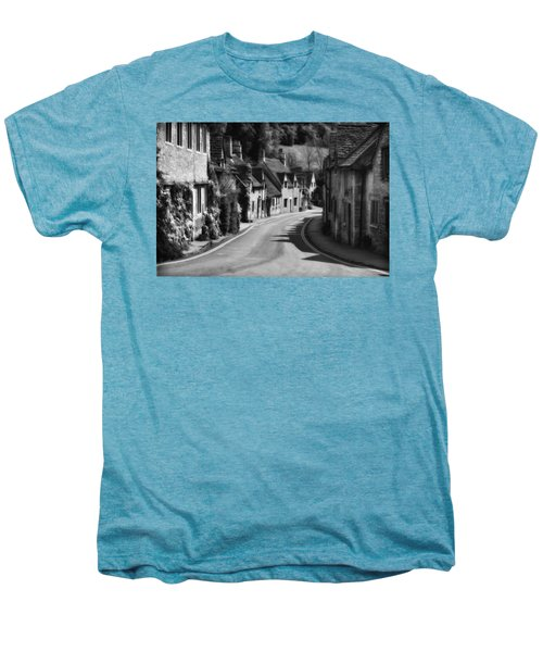 Castle Combe England 2 Bw  Men's Premium T-Shirt by Mike Nellums