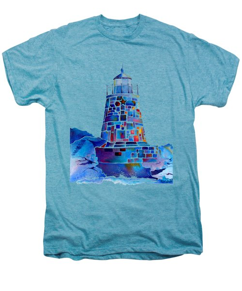 Castle Hill Newport Lighthouse Men's Premium T-Shirt by Jo Lynch