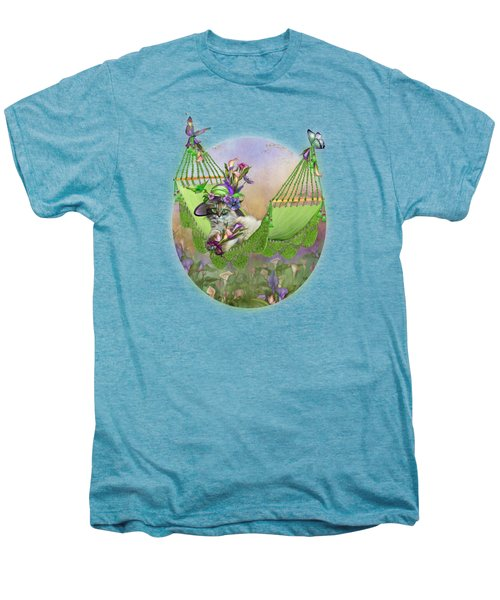 Cat In Calla Lily Hat Men's Premium T-Shirt