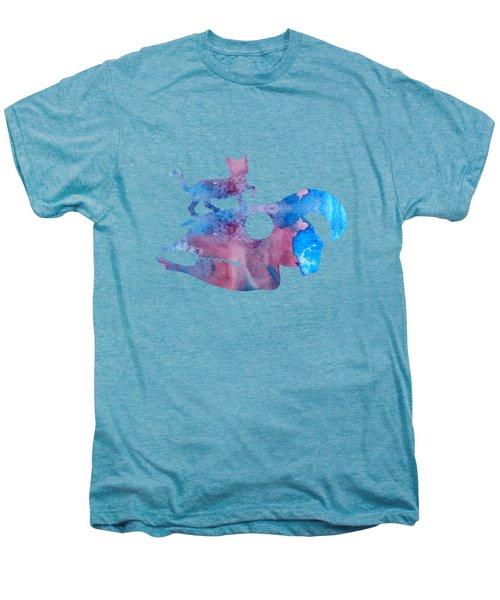 Cat On Goat Skull Men's Premium T-Shirt