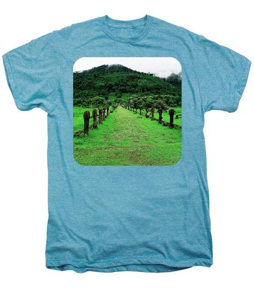 Causeway To Wat Phou Men's Premium T-Shirt by Ethna Gillespie