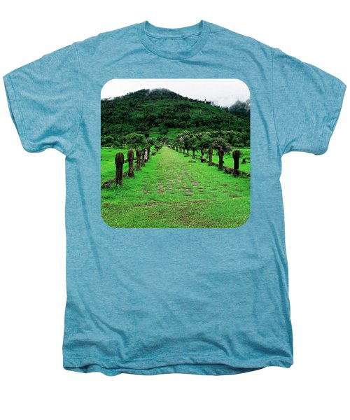 Causeway To Wat Phou Men's Premium T-Shirt