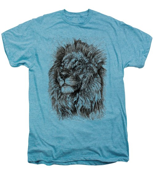 Cecil The Lion Men's Premium T-Shirt by Michael Volpicelli