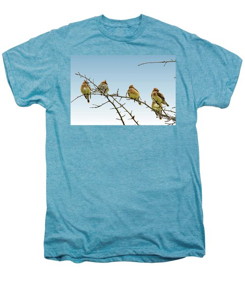 Cedar Waxwings Men's Premium T-Shirt by Geraldine Scull